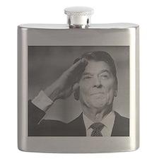 Ronald Reagan Salutes Flask