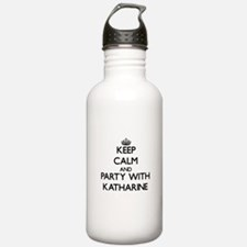 Keep Calm and Party with Katharine Water Bottle
