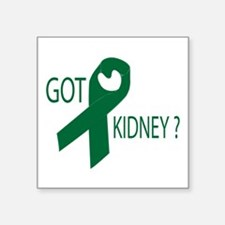 "Got Kidney Square Sticker 3"" x 3"""