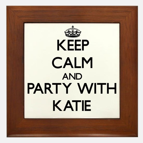 Keep Calm and Party with Katie Framed Tile
