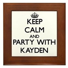 Keep Calm and Party with Kayden Framed Tile