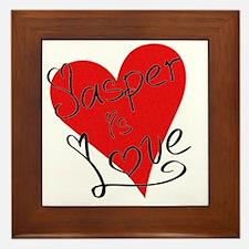 is_love_jasper Framed Tile