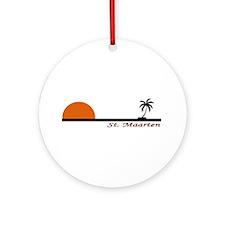 Funny Martin Ornament (Round)