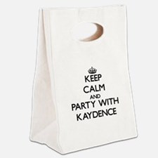 Keep Calm and Party with Kaydence Canvas Lunch Tot