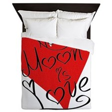 is_love_newmoon Queen Duvet
