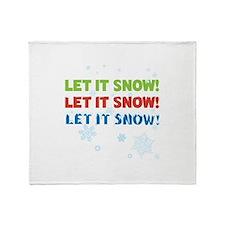 let it snow! let it snow! let it snow! Throw Blank