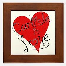 is_love_carlisle Framed Tile