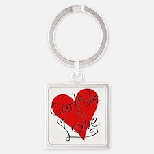 is_love_carlisle Square Keychain
