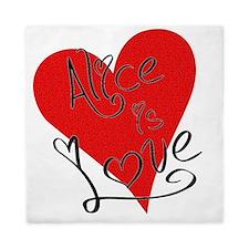 is_love_alice Queen Duvet