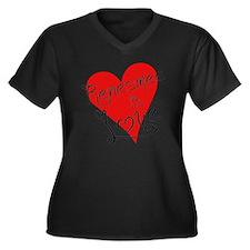 is_love_rene Women's Plus Size Dark V-Neck T-Shirt