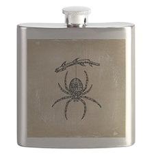 spider-branch_9x12 Flask