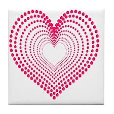 hearts 3TD Tile Coaster