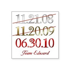 "dates_team_ed Square Sticker 3"" x 3"""