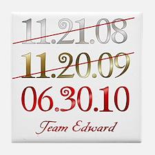 dates_team_ed Tile Coaster