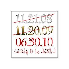 """dates_dazzled Square Sticker 3"""" x 3"""""""