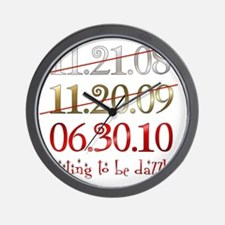 dates_dazzled Wall Clock