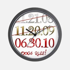 dates_dogsrule Wall Clock