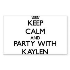 Keep Calm and Party with Kaylen Decal