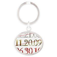 dates Oval Keychain