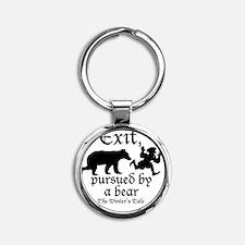 Exit-Bear cafe press Round Keychain