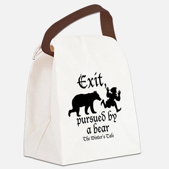 Exit-Bear cafe press Canvas Lunch Bag