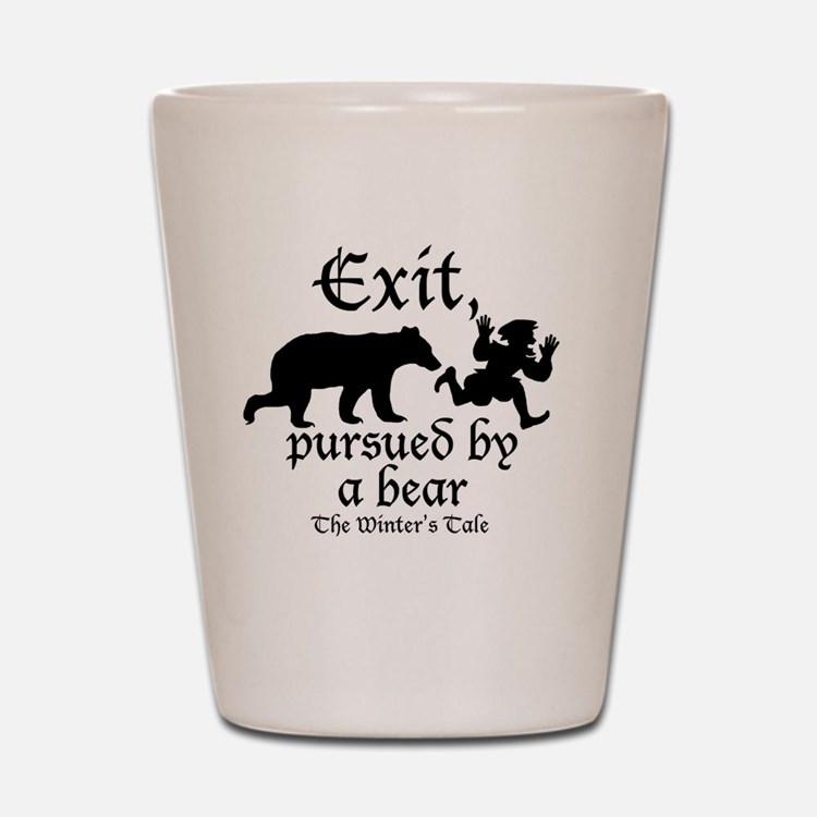 Exit-Bear cafe press Shot Glass