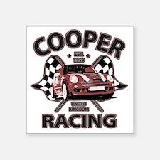 "Cooper Racing funk copy Square Sticker 3"" x 3"""