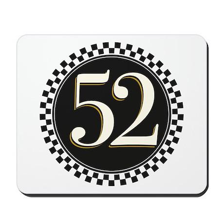 Vintage Racer Number Mousepad