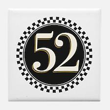 Vintage Racer Number Tile Coaster