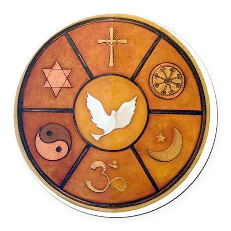 interfaith-1 Round Car Magnet