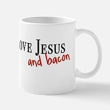 2-jesusandbacon_bumper Small Small Mug