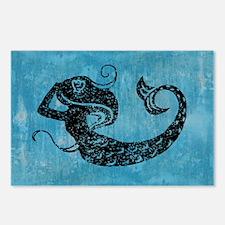 mermaid-worn_13-5x18 Postcards (Package of 8)