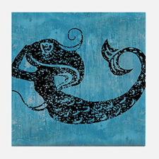mermaid-worn_13-5x18 Tile Coaster