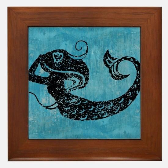 mermaid-worn_13-5x18 Framed Tile