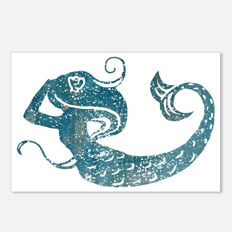 mermaid-worn_tr Postcards (Package of 8)