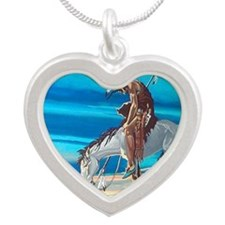 Trail of tears Silver Heart Necklace