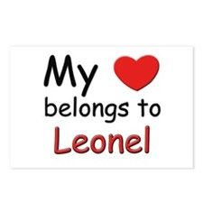My heart belongs to leonel Postcards (Package of 8