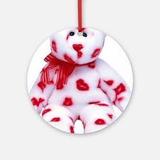 kissy-bear-lg Round Ornament