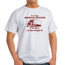 Proud American Trucker T-Shirt