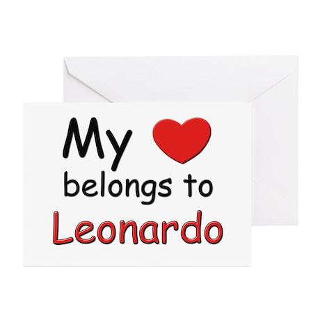 My heart belongs to leonardo Greeting Cards (Packa