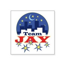 "team_jay1 Square Sticker 3"" x 3"""