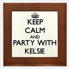 Keep Calm and Party with Kelsie Framed Tile