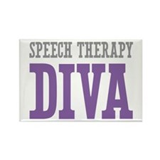 Speech Therapy DIVA Rectangle Magnet (10 pack)