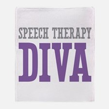 Speech Therapy DIVA Throw Blanket