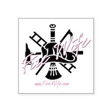 """firewife.logo 2000 Square Sticker 3"""" x 3"""""""