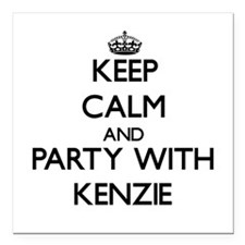 Keep Calm and Party with Kenzie Square Car Magnet