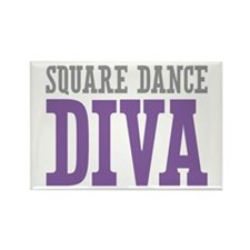 Square Dance DIVA Rectangle Magnet