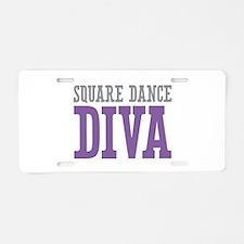 Square Dance DIVA Aluminum License Plate