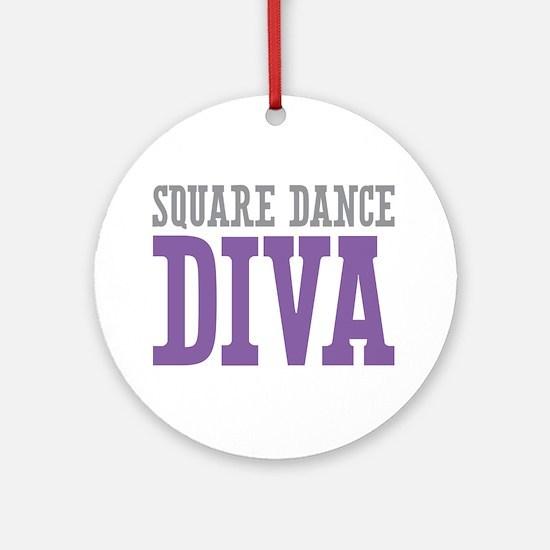 Square Dance DIVA Ornament (Round)