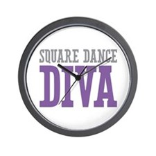 Square Dance DIVA Wall Clock